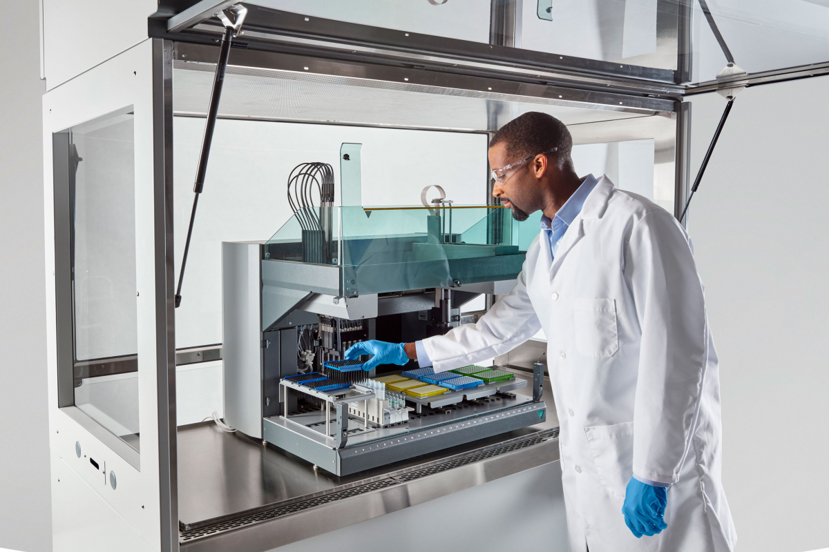 Logic Vue Class II Biosafety Enclosure for Large Automated Instruments, Liquid Handlers, Flow Cytometers and Aerosol Generating Equipment