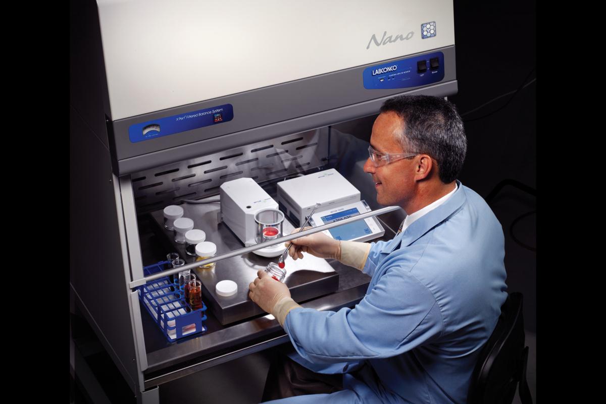 Scientist at XPert Nano Enclosure