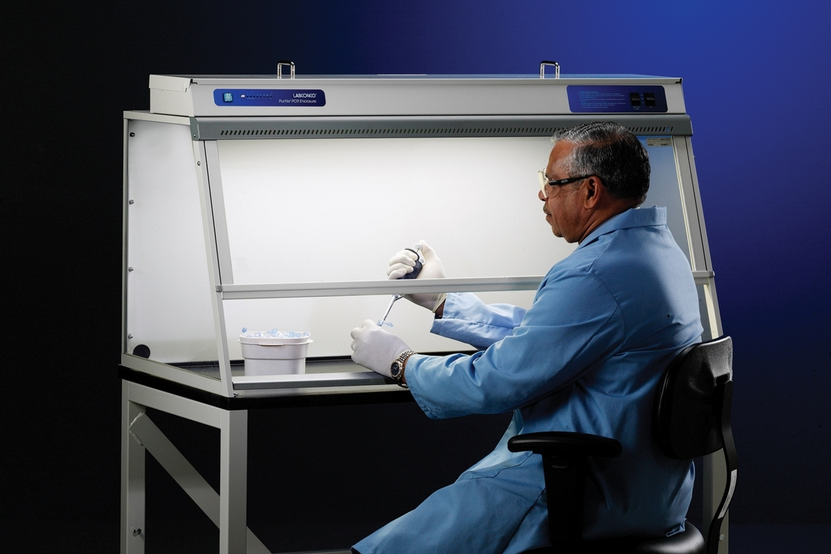 Non-Ventilated PCR Enclosure on Base Stand