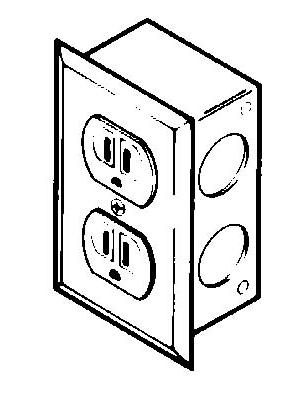 Duplex Electrical Receptacle Kit